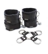 5 Piece Hog Tie and Cuff Set - Black