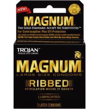 Trojan Magnum Ribbed - 3 Pack
