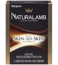 Trojan Naturalamb Luxury Condoms - 3 Pack