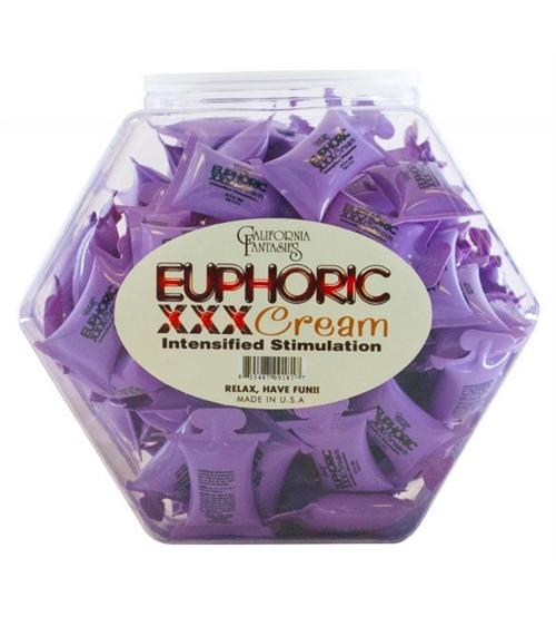 Euphorix XXX Cream - 72 Piece Fishbowl - 10 ml Pillows