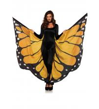 Festival Butterfly Wing Halter Cape - Orange/  - One Size - Black