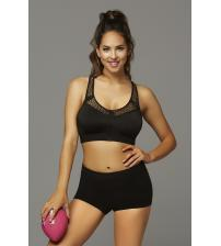 Strike Make It Happen Sports Bra With Netting Inserts  - Large - Black