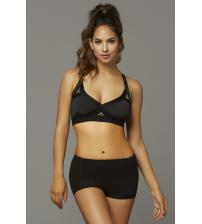 Strike Rock Solid Space Dye Sports Bra - Large - Black