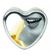 Edible Heart Candle - Banana - 4 Oz.
