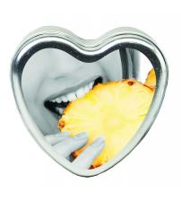 Edible Heart Candle - Pineapple - 4oz