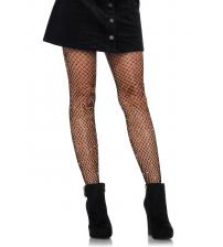 Lurex Industrial Net Tights - One Size - Black/  Gold