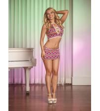 Exposed Pride Halter & Skirt Set Queen Size - Multicolor
