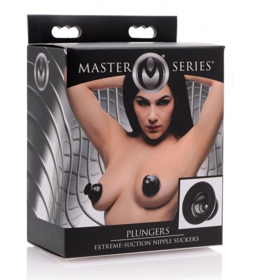 Master Series - Plungers Extreme Suction Nipple  Suckers - Black