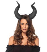 Latex Animal Horn Head Piece Black