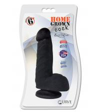 "6"" Home Grown Cock - Midnight"