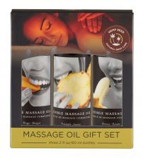 Edible Massage Oil Gift Set Box Three 2 Oz Bottles