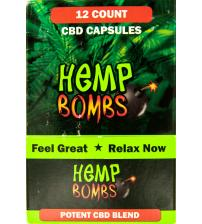 Hemp Bombs Capsules 12 Ct Display 75mg
