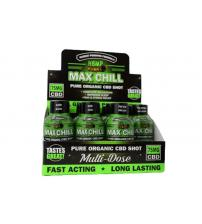 Hemp Bombs Max Chill Shot 2 Fl. Oz. 12ct Display 75mg