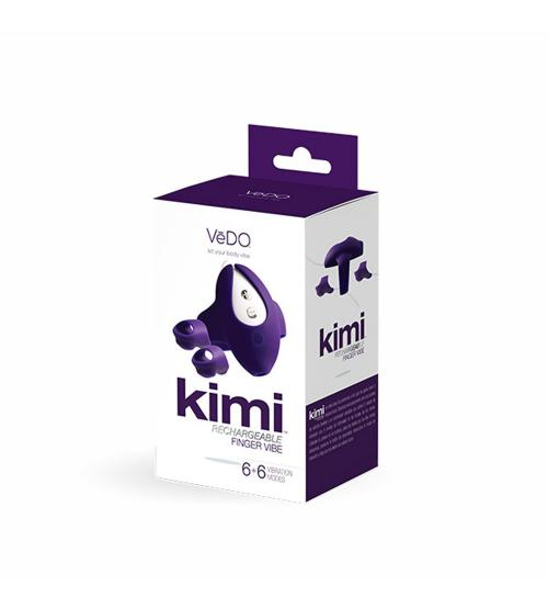 Kimi Rechargeable Dual Finger Vibe With Remote Control - Deep Purple