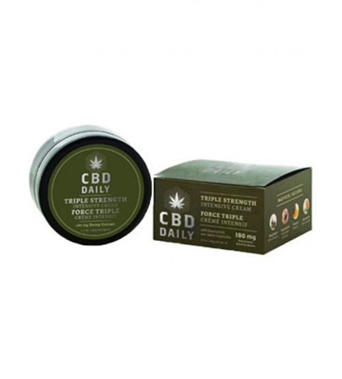 Cbd Daily Triple Strength Intensive Cream 1.7 Fl Oz. 180mg
