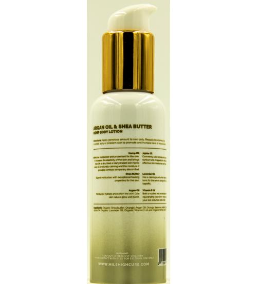 Mile High Cure Hemp Lotion With Argan Oil and Shea Butter 3.4 Fl Oz.