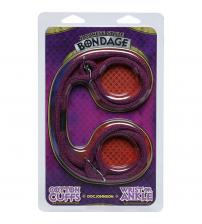 Japanese Style Bondage - Cotton Wrist or Ankle  Cotton Cuffs - Purple
