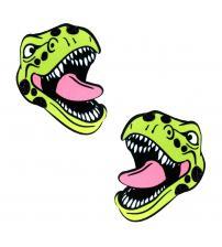 Freaking Awesome Sexy T-Rexy Dino Glitter Nipztix Pasties