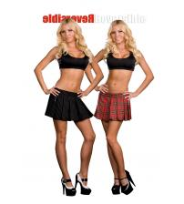 Dreamgirl Reversible School Girl / Gangster Skirt - Multi - Large