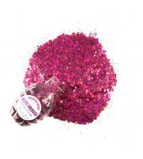 Raspberry Rushie Cosmetic Glitter Glitz Grenade Keychain in Aloe Gel