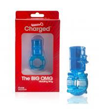 Big Omg Vibrating Ring - Blue - 6 Count Box