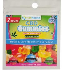 420 Health Hemp Gummies- 50 Count Bulk Box - 2 Pack Gummies