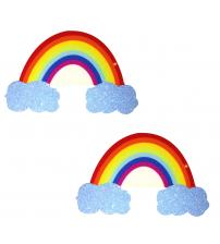 Rainbow Glitter Cloud Pasties