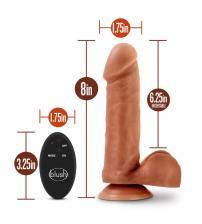 Dr. Skin- 8 Inch 10 Function Wireless Remote Dildo - Mocha