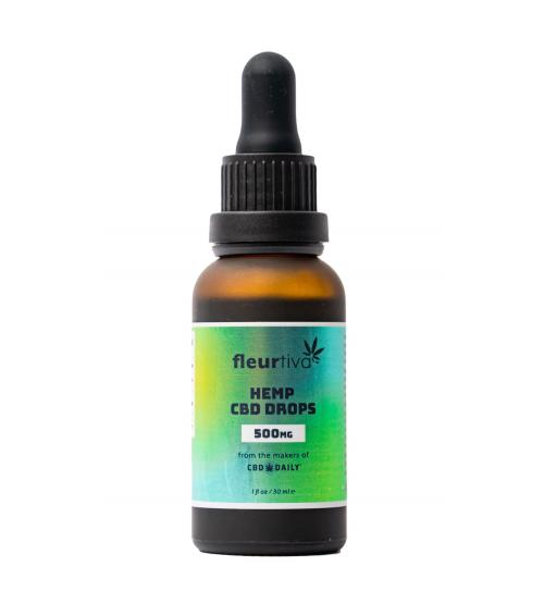 Fleurtiva Hemp CBD Drops 500mg 1oz