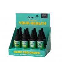 Fleurtiva Hemp CBD Drops 8pc Display