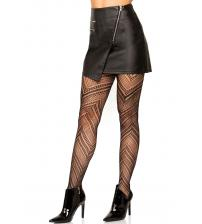 Chevron Net Tights - One Size - Black