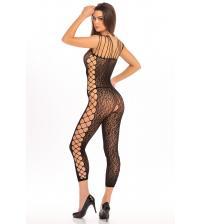 Animal Crotchless Bodystocking - One Size - Black