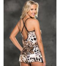 Cami and Shorts Set - Leopard Print - Medium