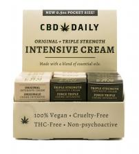 Hemp Daily Pocket Size Triple Strength Intensive Cream Display and Original Intensive Cream 4pc Including Tester