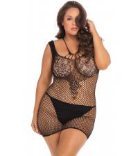 Absolutist Lace and Net Dress - Black - Queen Size