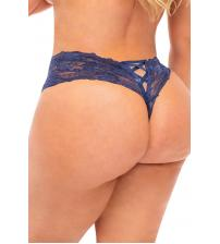 Good Night Kiss Boyshort With Elastic Detail - Estate Blue - 3x4x