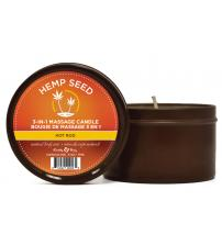 Hemp Seed 3-in-1 Massage Candle - Hot Rod - 6 Oz.