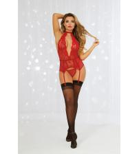 Bustier & G-String - Rouge - One Size