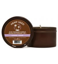 Hemp Seed 3-in-1 Massage Candle - Lavender - 6 Oz.