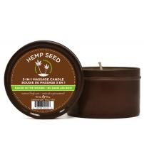 Hemp Seed 3-in-1 Massage Candle - Naked in the Woods - 6 Oz.