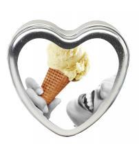Edible Heart Candle - Vanilla - 4 Oz.