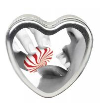 Edible Heart Candle - Mint - 4 Oz.