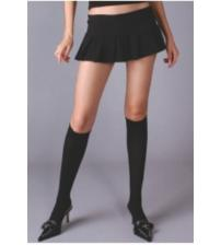 Opaque Knee Hi - Black