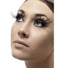 Feather Plume Eyelashes - Black