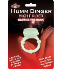 Humm Dinger Night Rider Glow-in-the-Dark Vibrating Penis Ring - Each