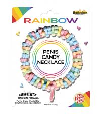 Rainbow Penis Candy Necklace