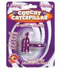 Horny Honey Vibro Ring Coochy Caterpillar Purple