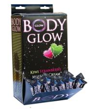 Body Glow Massage Cream 50 Pieces Display - Kiwi Strawberry