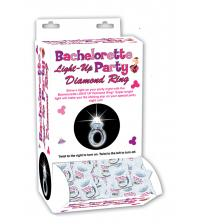 Bachelorette Light Up Party Diamond Ring - 24 Piece Display