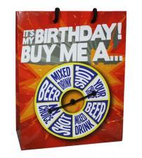It Is My Birthday Buy Me Shot Spinner Gift Bag